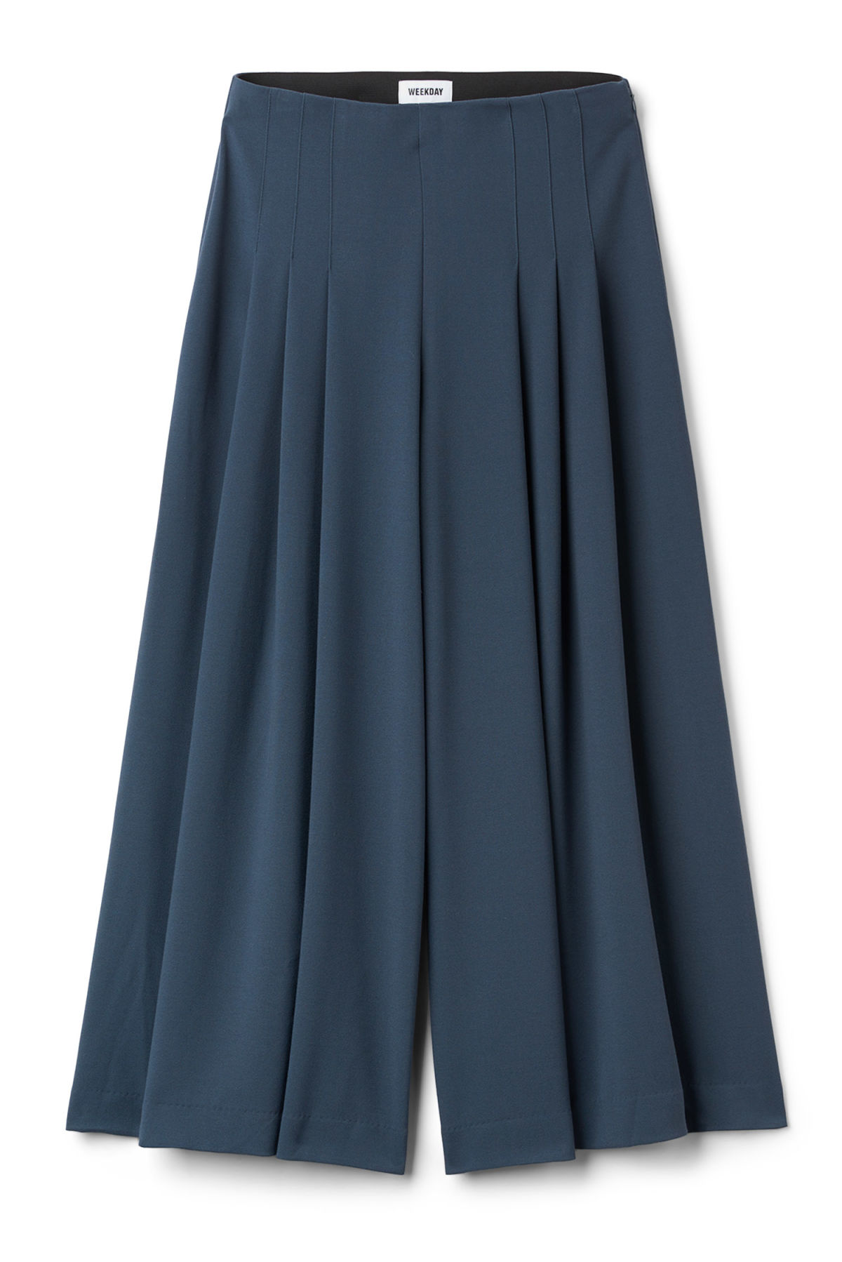 Front image of Weekday jazz trousers in blue