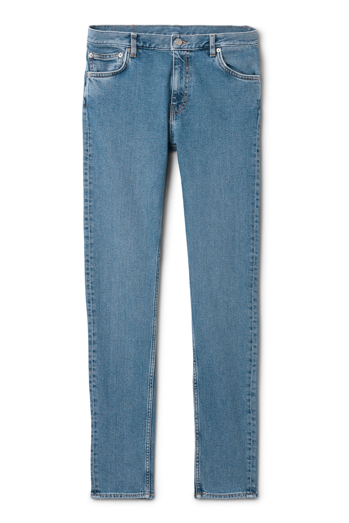 Front image of Weekday form arizona blue jeans in blue