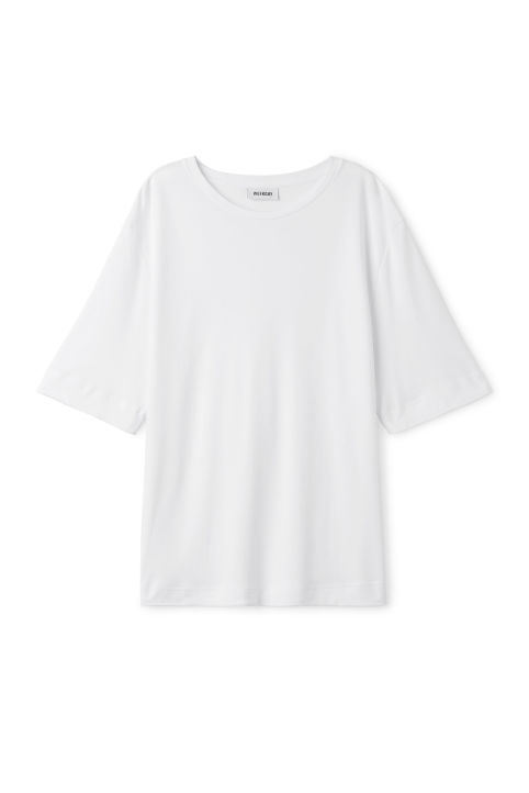 Front image of Weekday farm tee in white