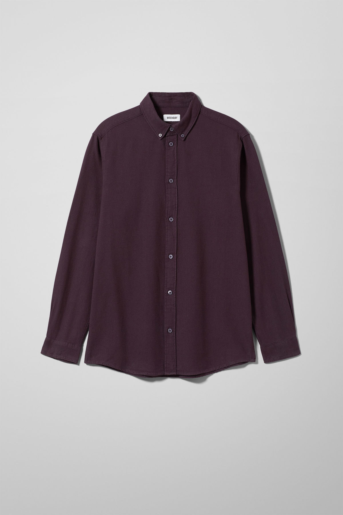 Front image of Weekday seattle flanell shirt in purple