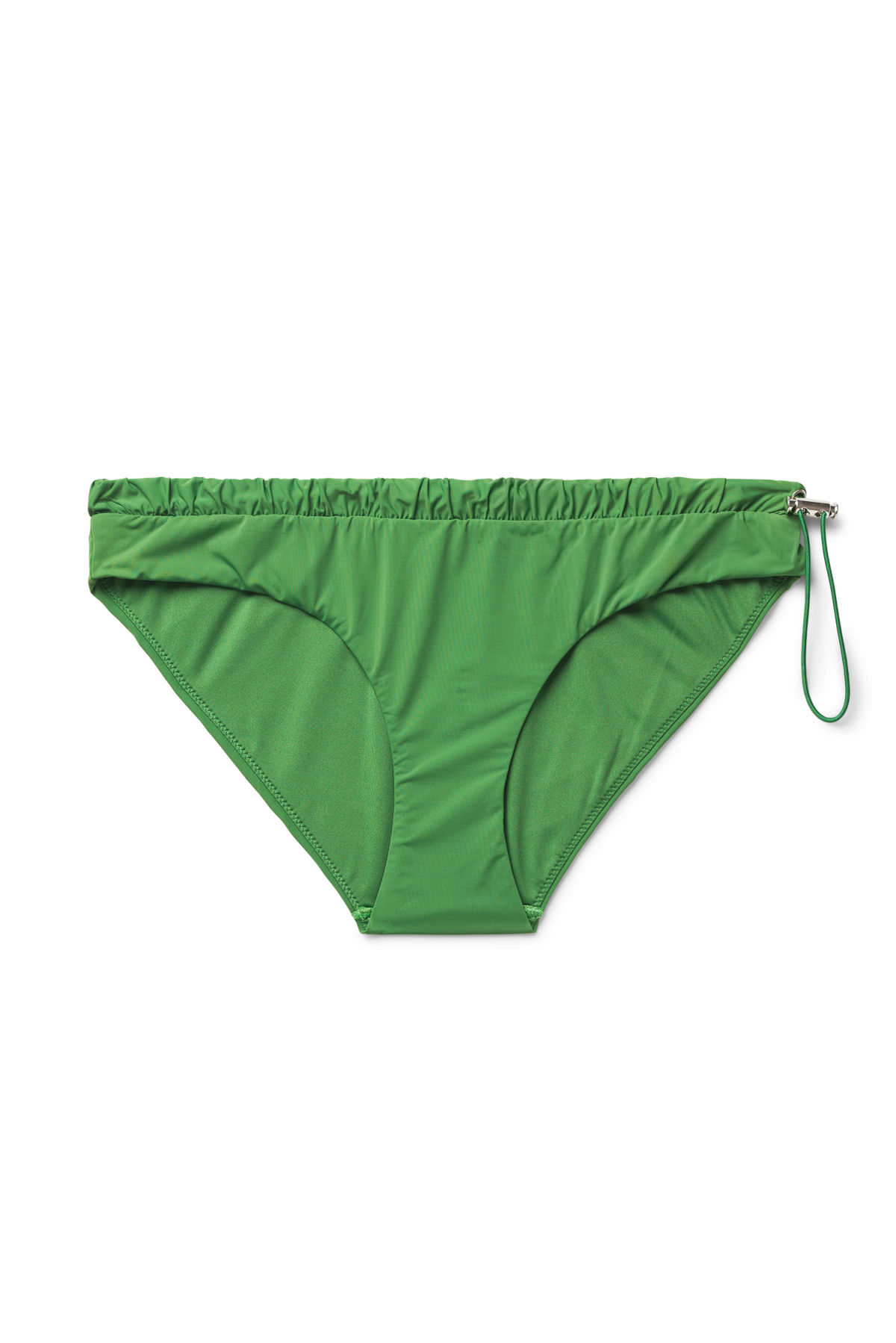 Front image of Weekday silence swim bottoms in green
