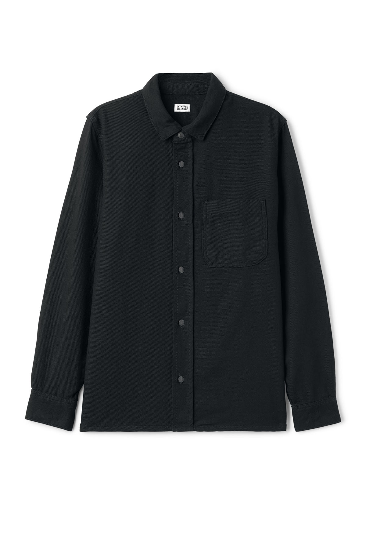 Front image of Weekday oz shirt  in black