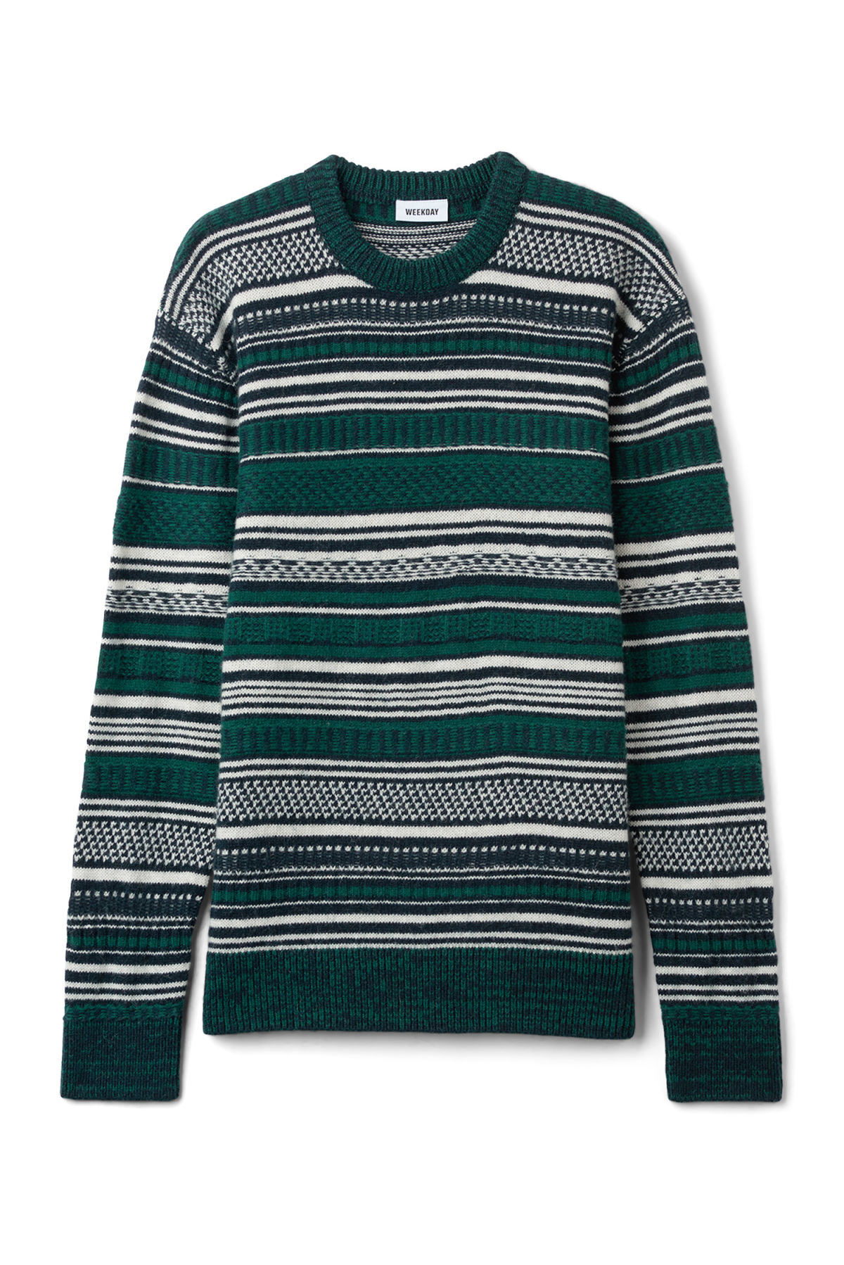 Front image of Weekday jaque sweater in blue