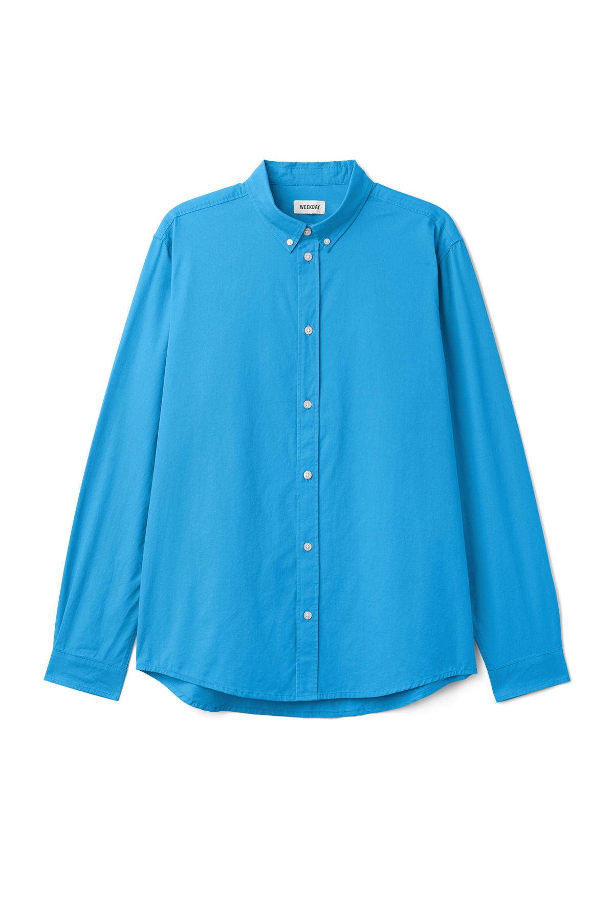 Front image of Weekday seattle twill shirt  in blue