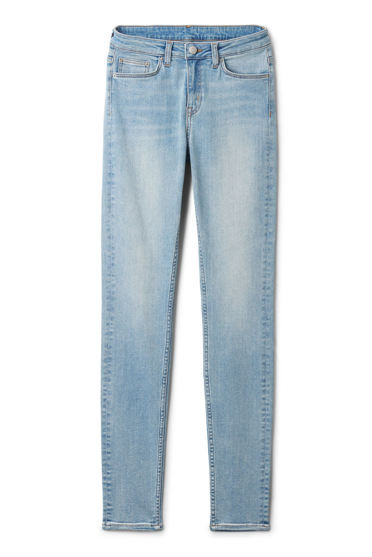 Front image of Weekday body light jeans in blue