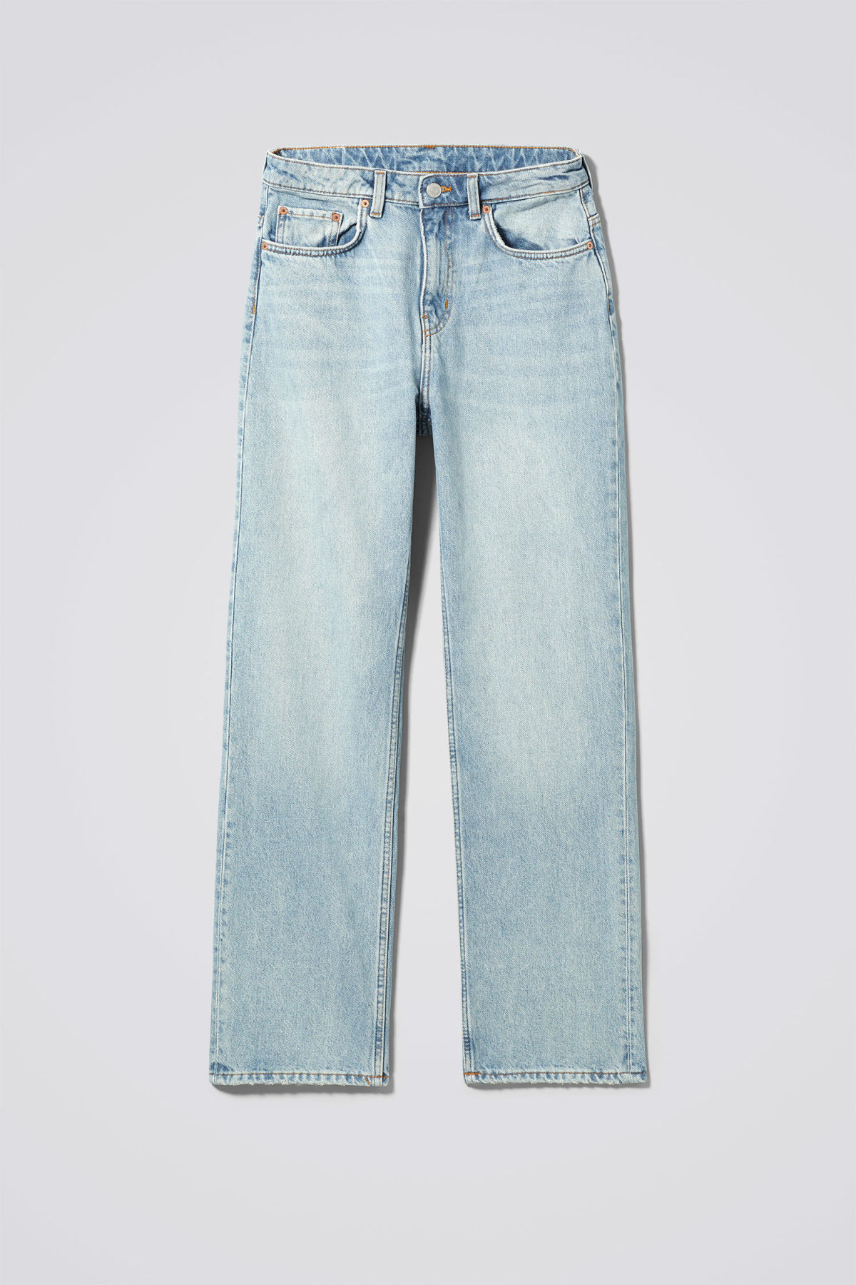 Front image of Weekday voyage spring blue jeans in blue