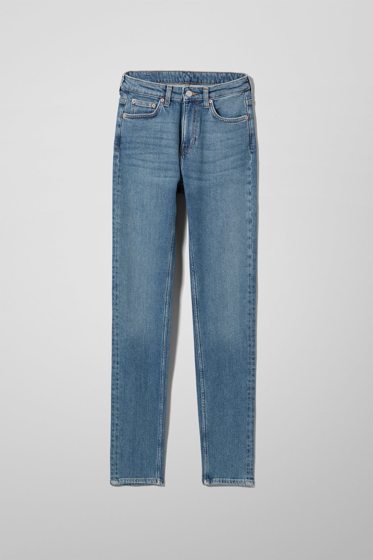 Front image of Weekday thursday arizona jeans in blue