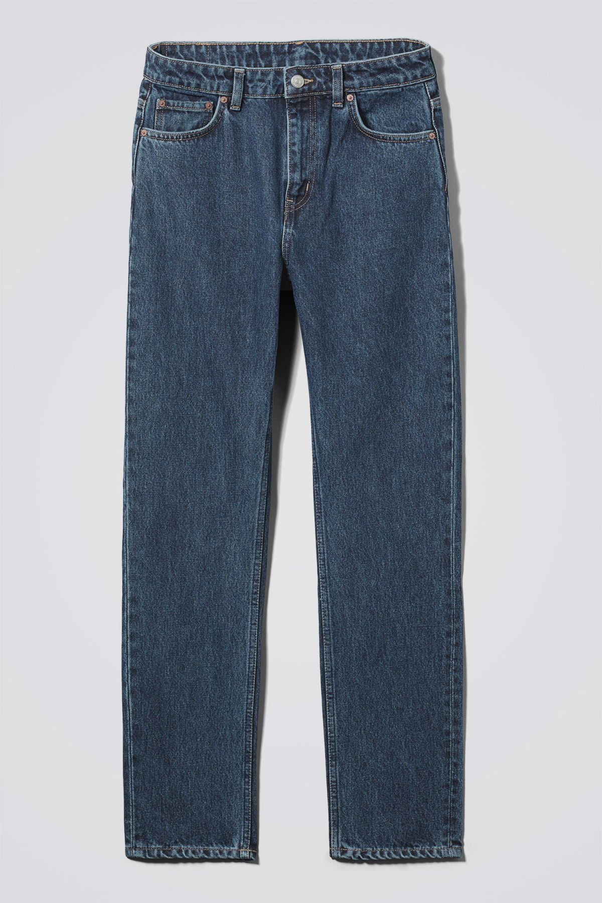 Front image of Weekday seattle win jeans in blue