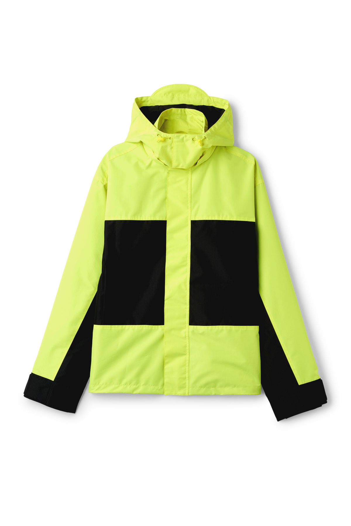 Front image of Weekday flen jacket  in yellow