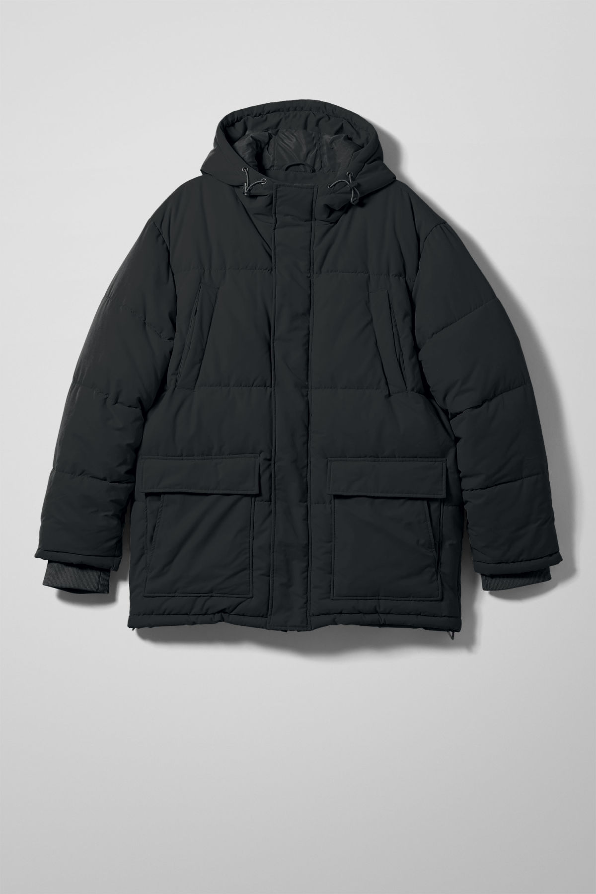 Front image of Weekday jared jacket in black