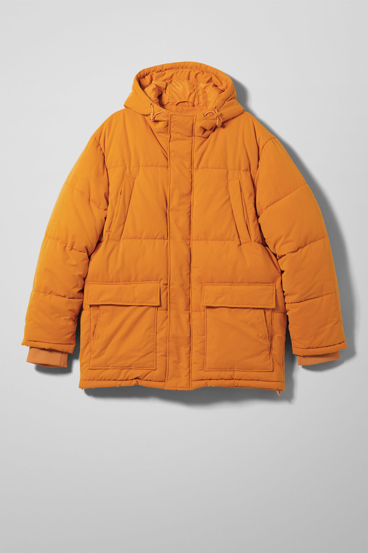 Front image of Weekday jared jacket in yellow