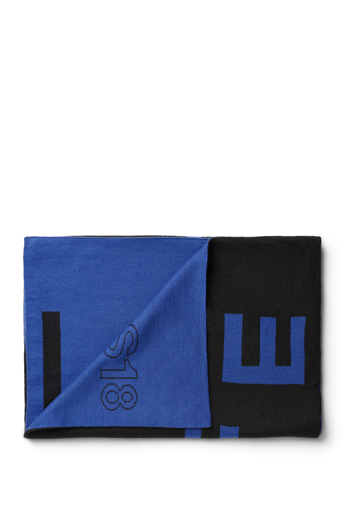 Front image of Weekday meridian scarf  in blue