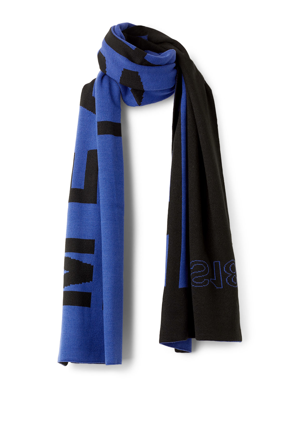 Back image of Weekday meridian scarf  in blue