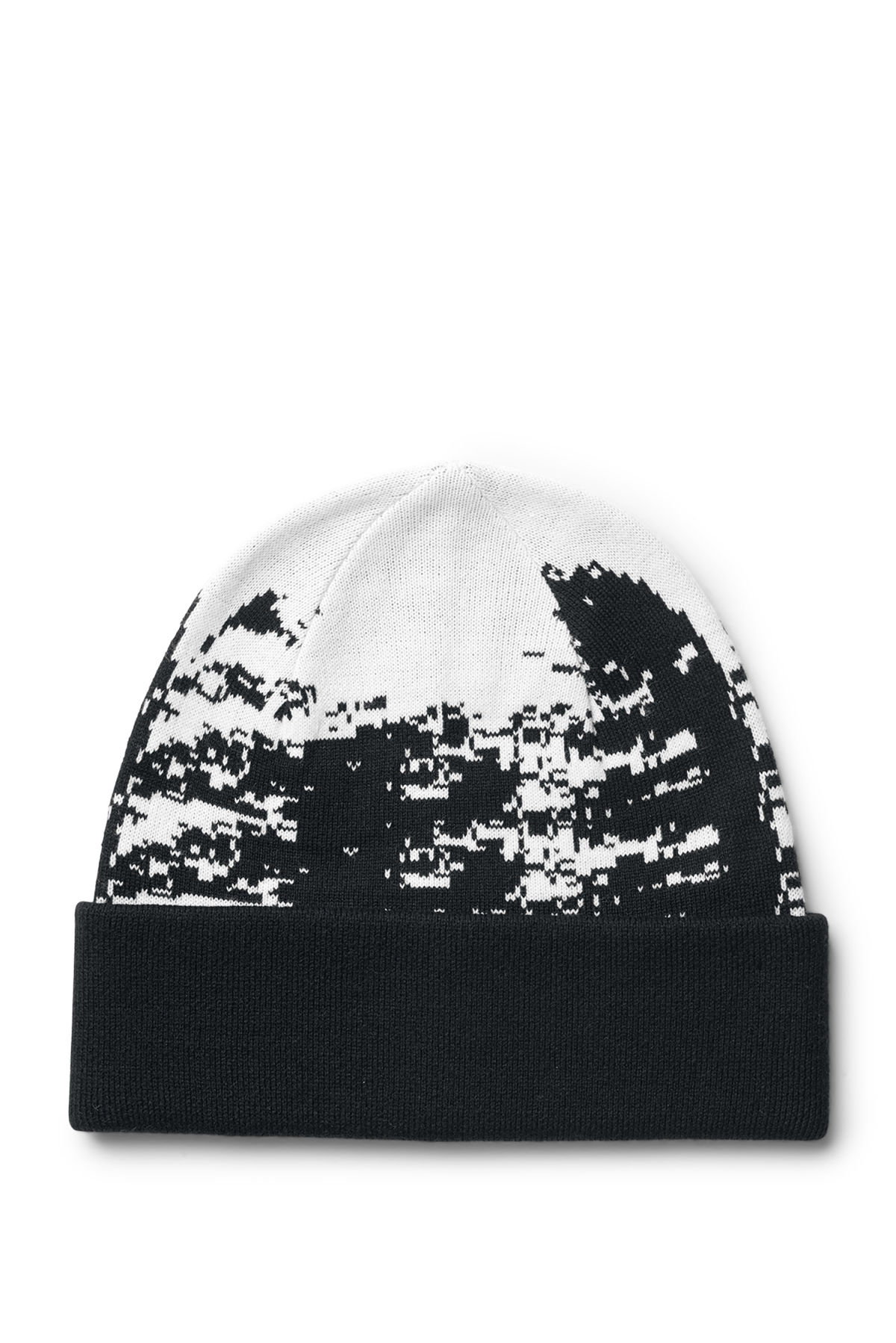 Front image of Weekday hamal beanie in white