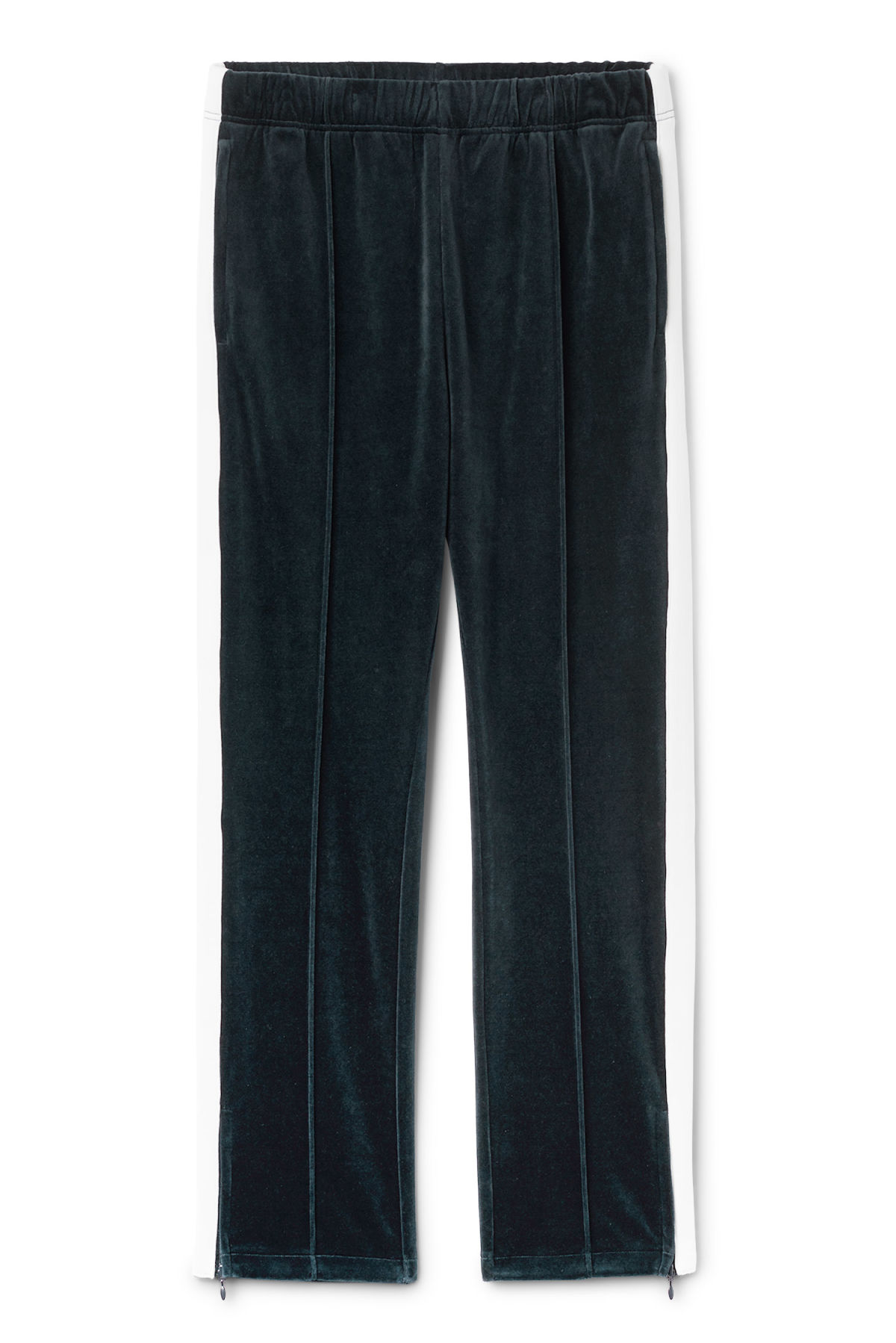 Front image of Weekday local velour sweatpants in blue