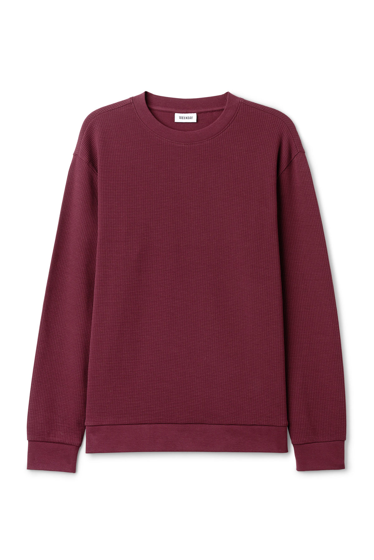 Front image of Weekday steve structured sweatshirt in red