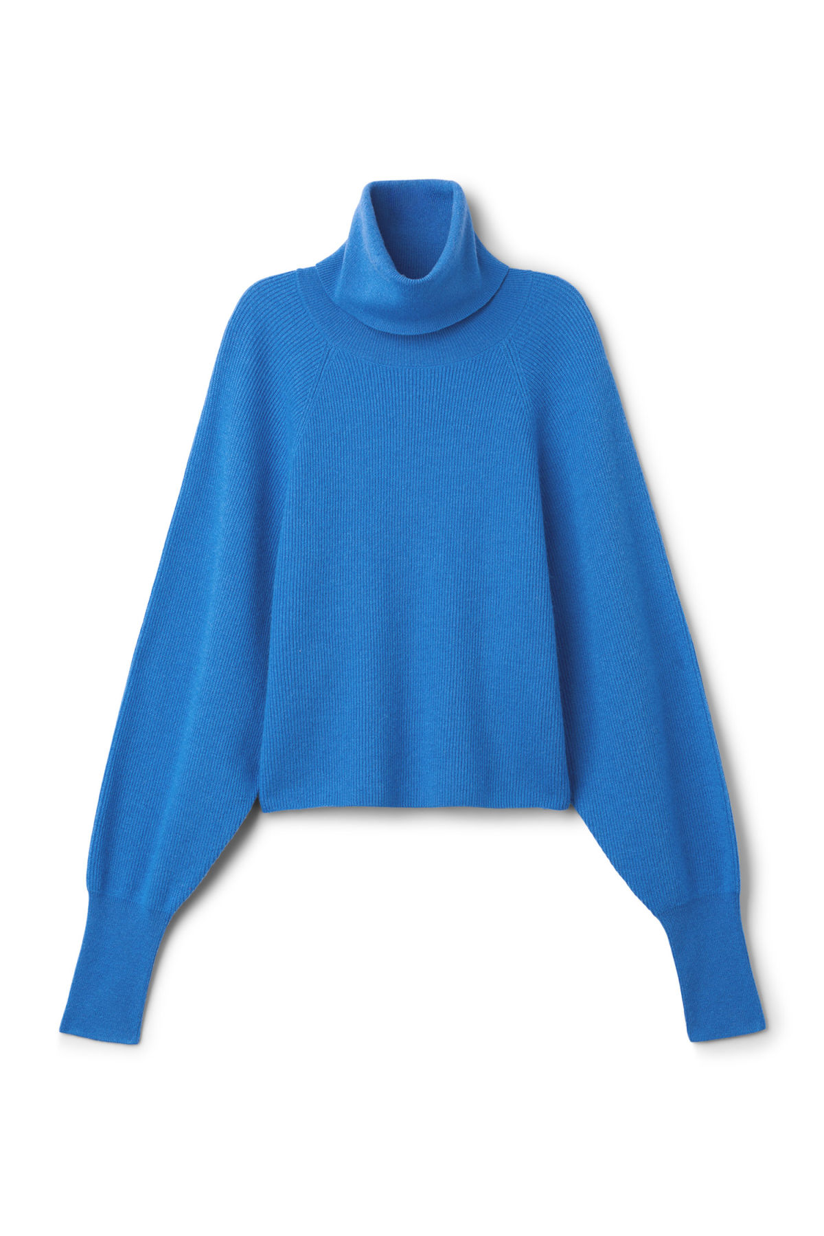 Front image of Weekday trish polo sweater  in blue
