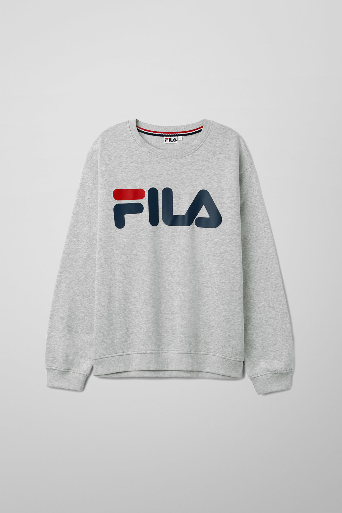 Front image of Weekday classic logo sweatshirt in grey
