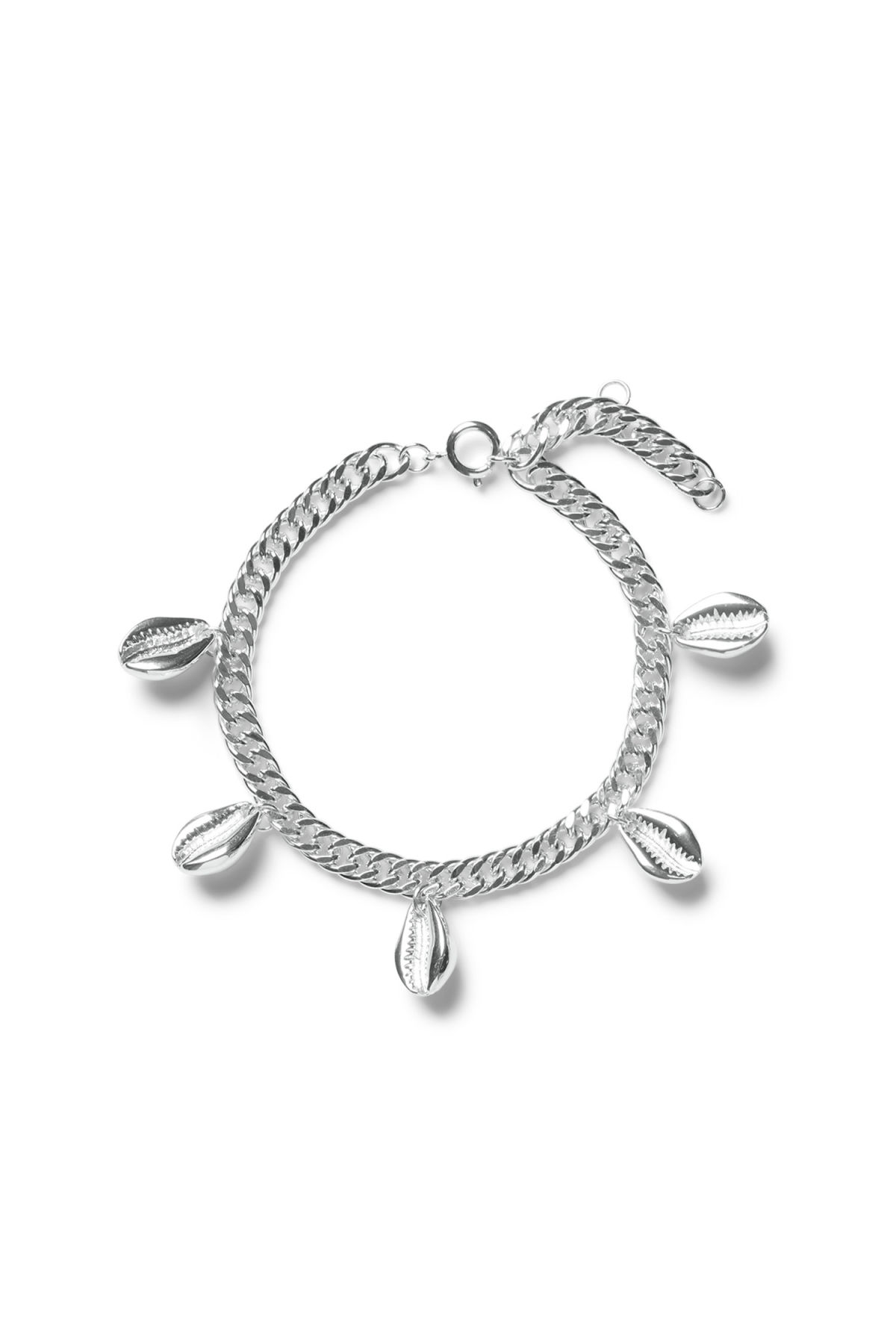 Front image of Weekday mystic anklet in silver