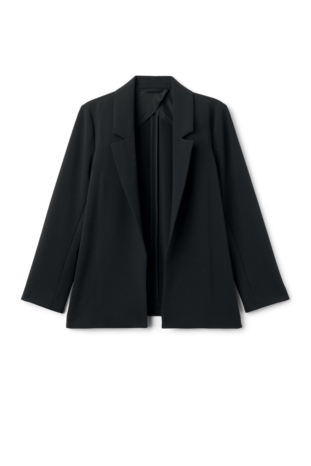 Front image of Weekday marley blazer in black