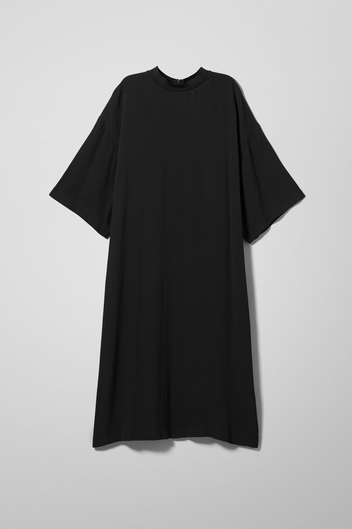 Front image of Weekday madison t-shirt dress in black