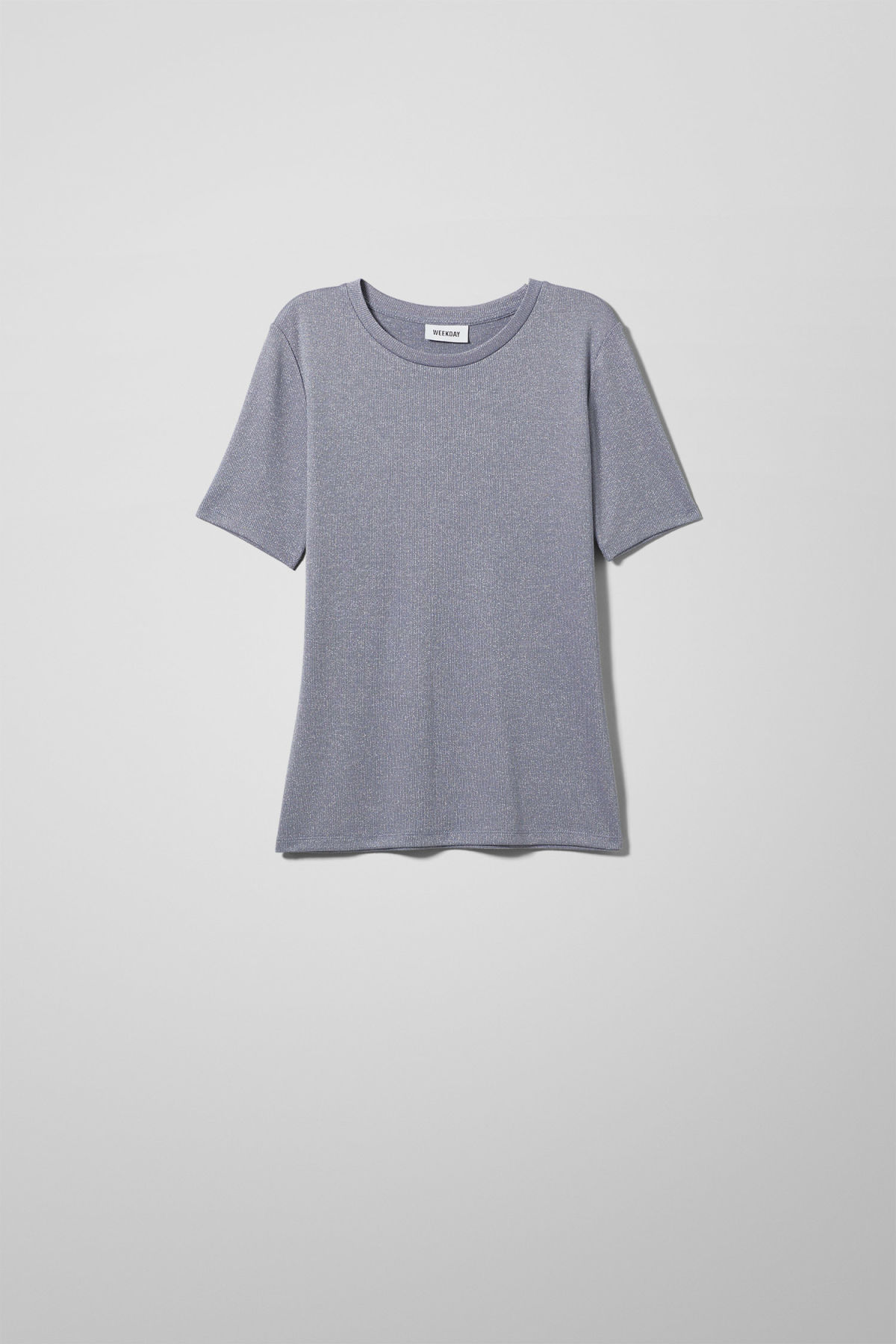 Front image of Weekday ia t-shirt in blue