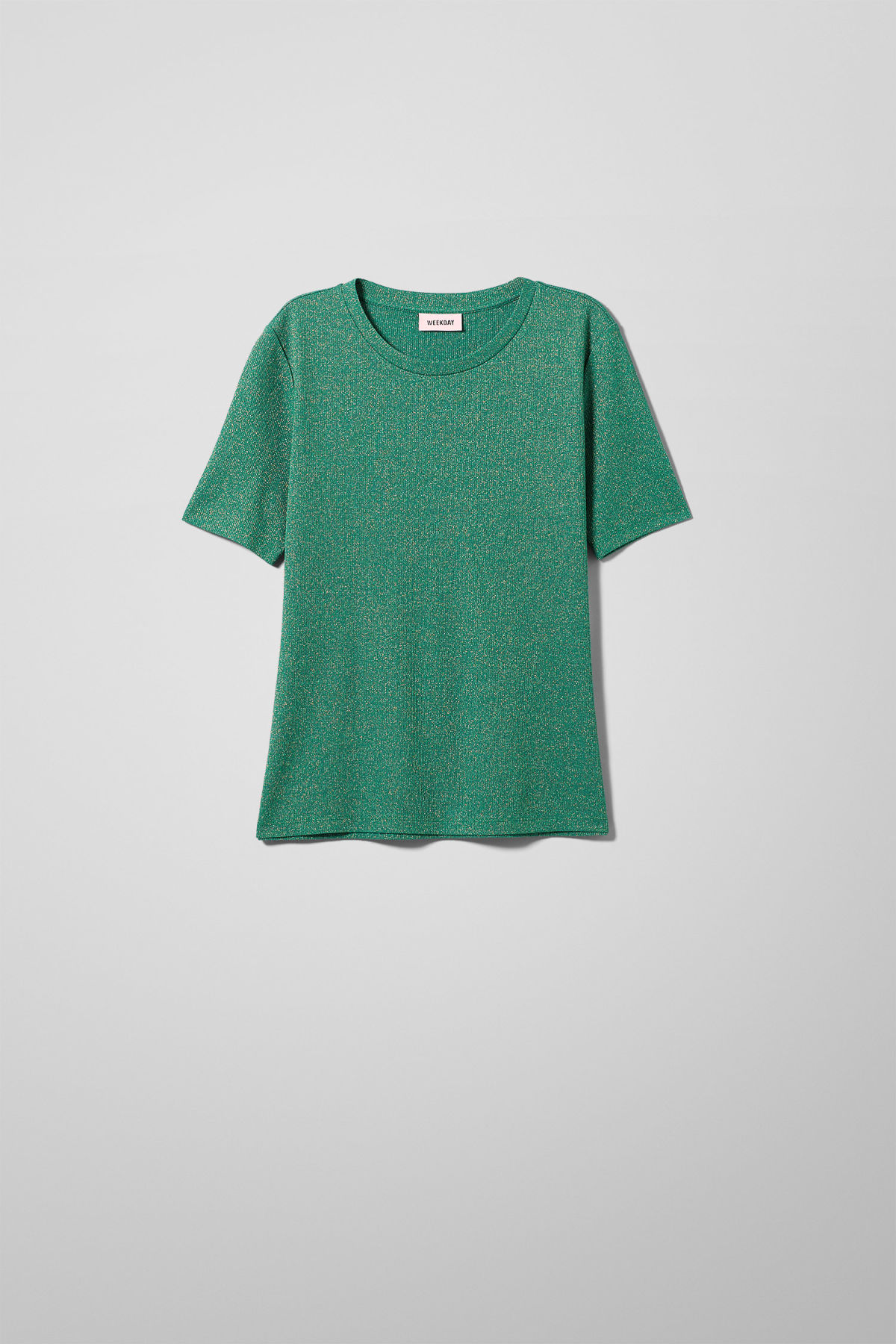 Front image of Weekday ia t-shirt in turquoise