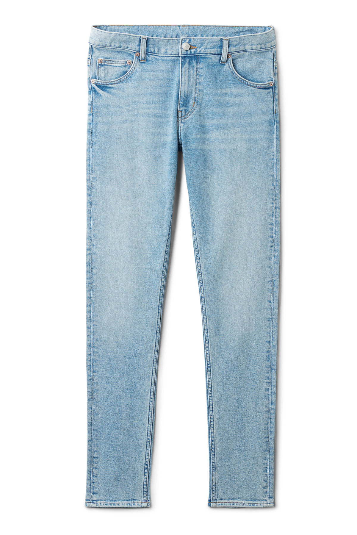 Front image of Weekday form ratio blue jeans in blue