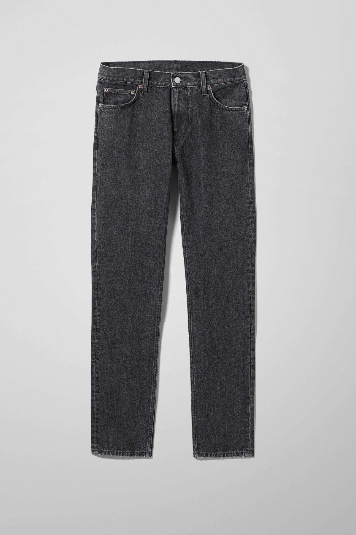 Front image of Weekday friday trotter black jeans in grey