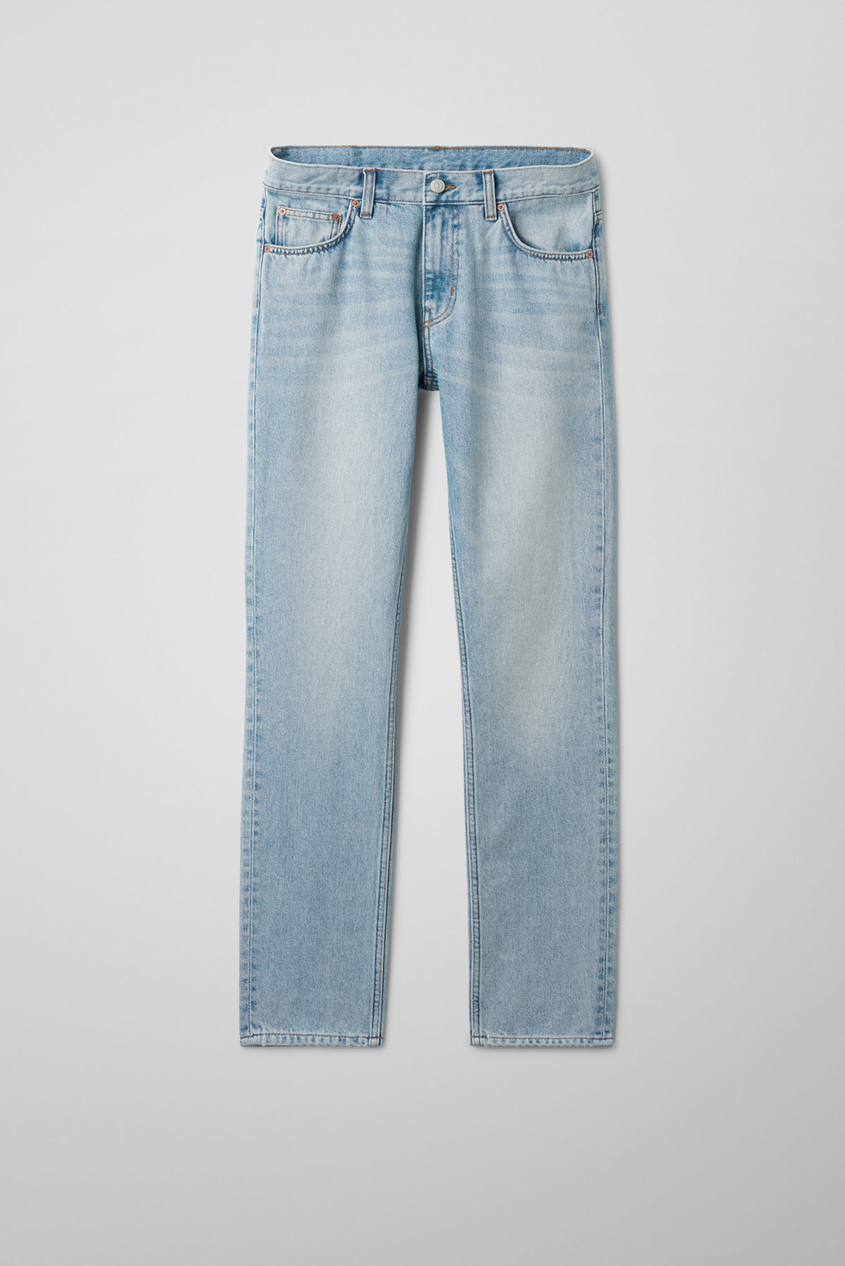 Front image of Weekday friday spring blue jeans in blue