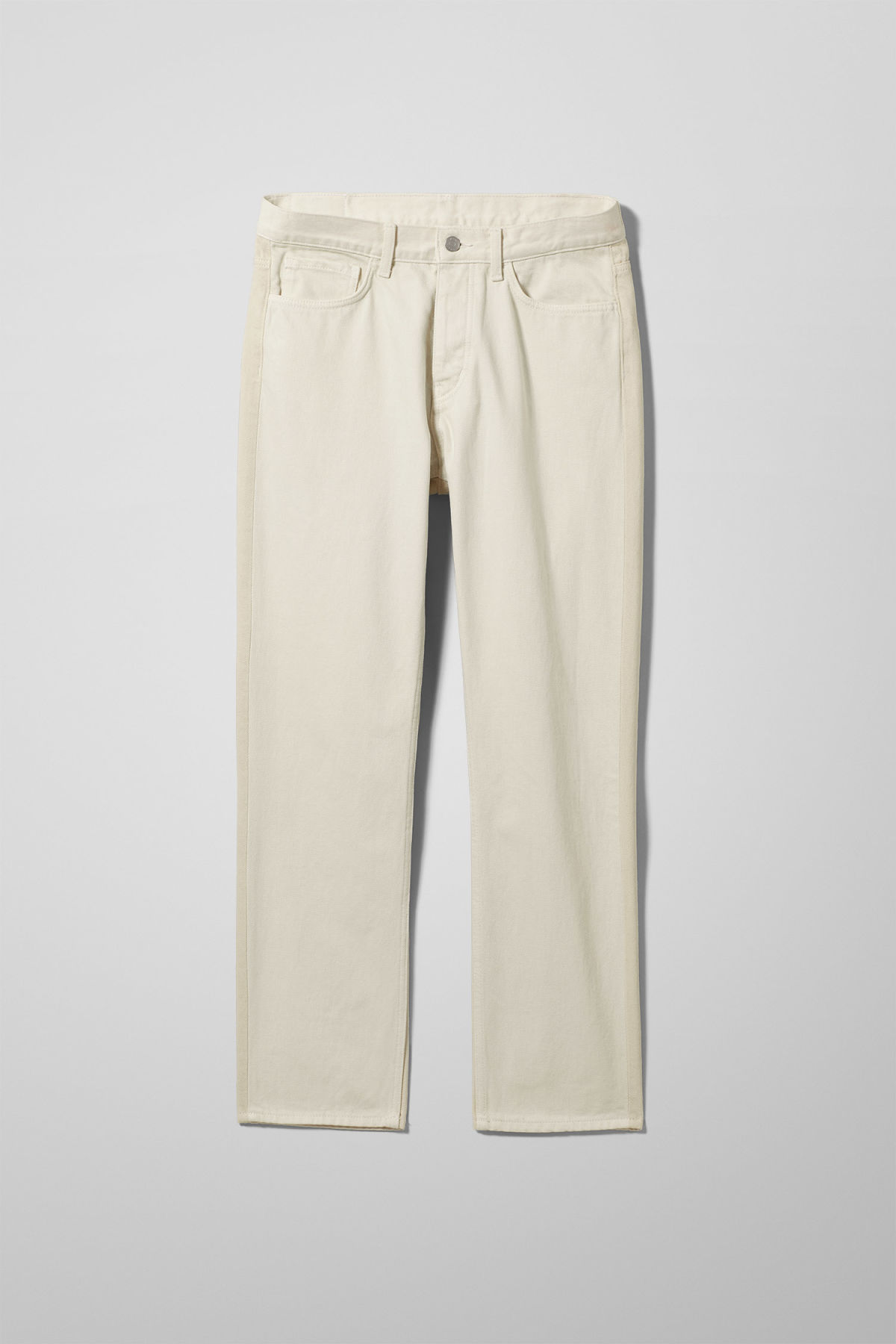 Front image of Weekday vacant two-toned jeans in white