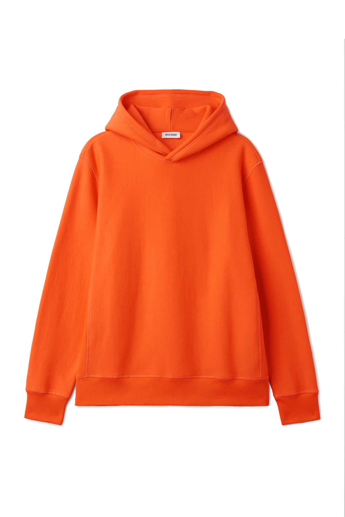 Front image of Weekday sol hoodie in orange