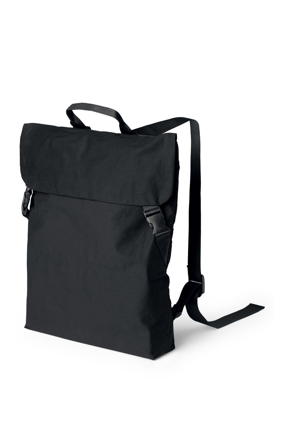 Front image of Weekday divine backpack  in black
