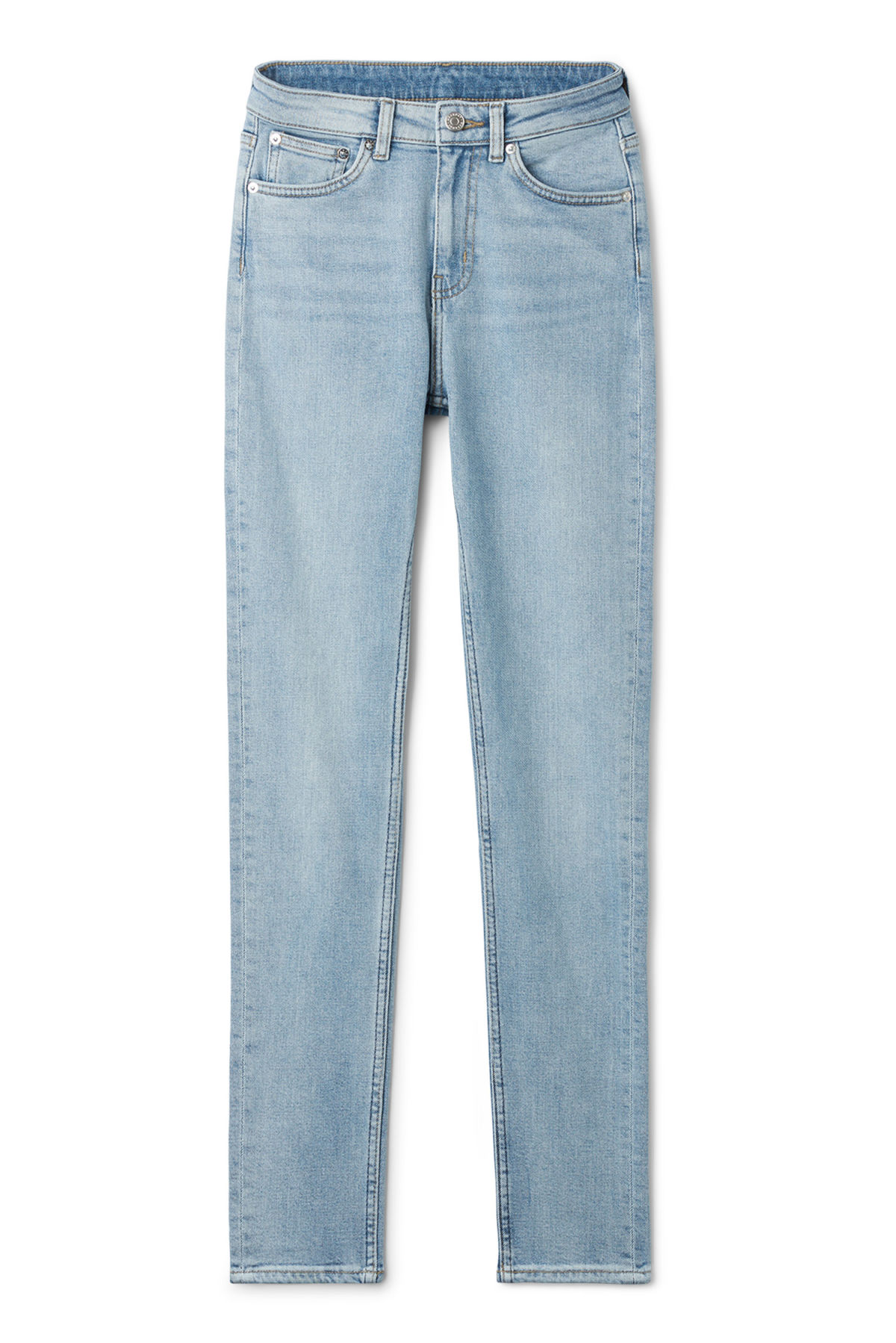 Front image of Weekday thursday reused blue jeans in blue