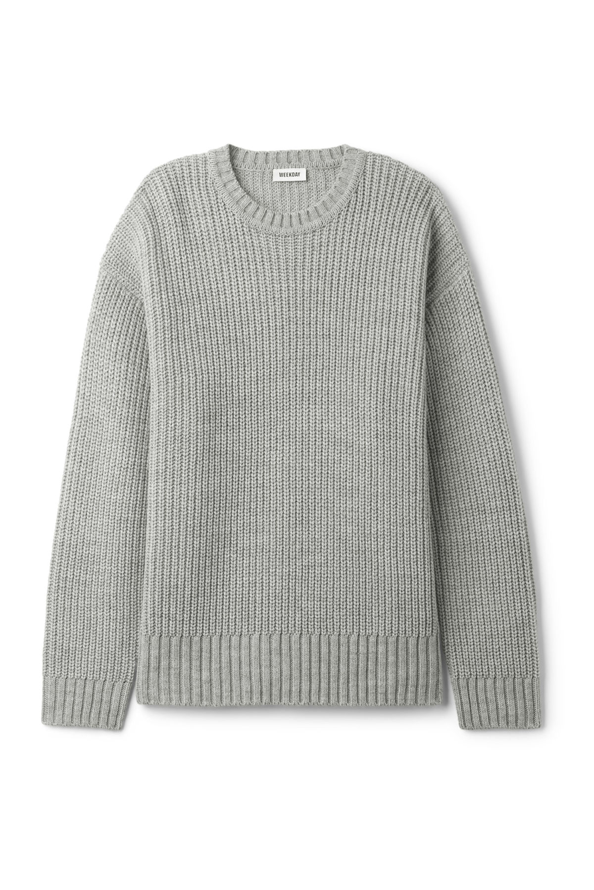 Front image of Weekday dieago sweater in grey