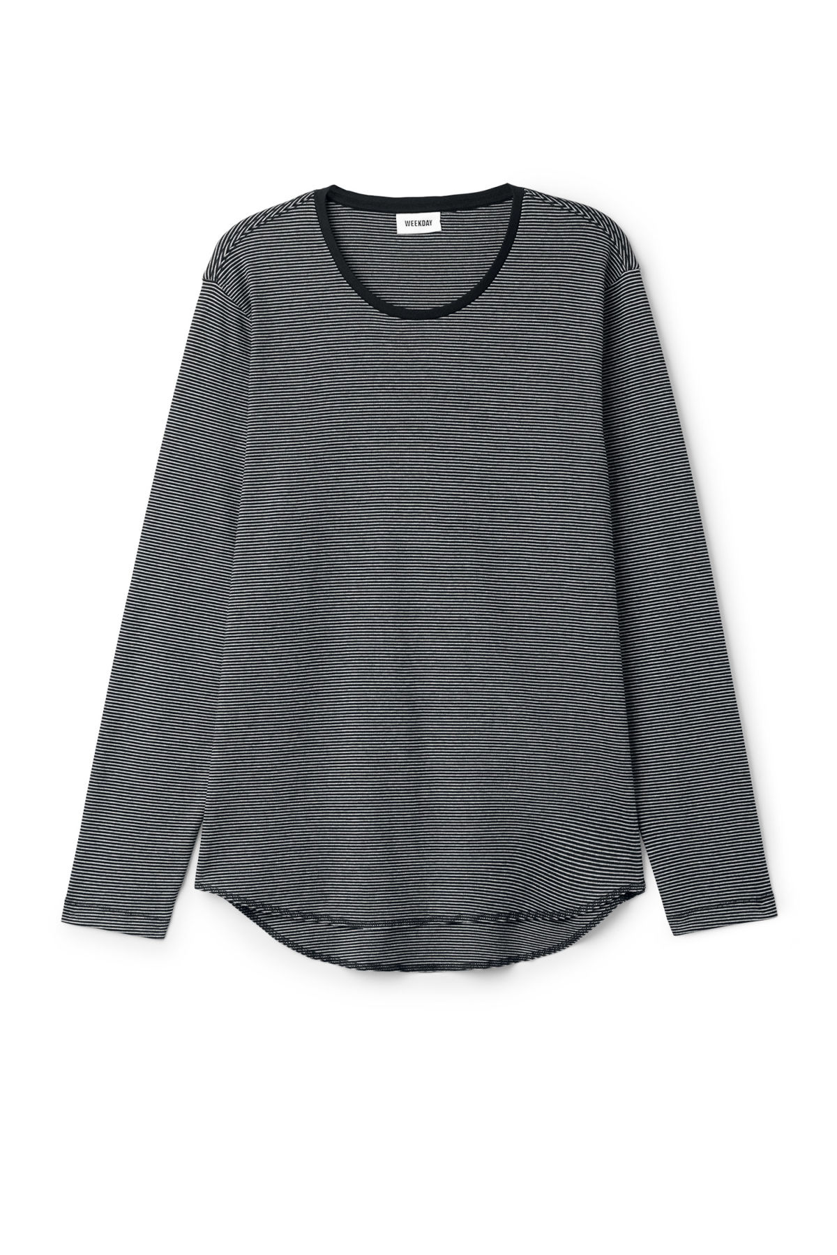 Front image of Weekday boule long sleeve  in black