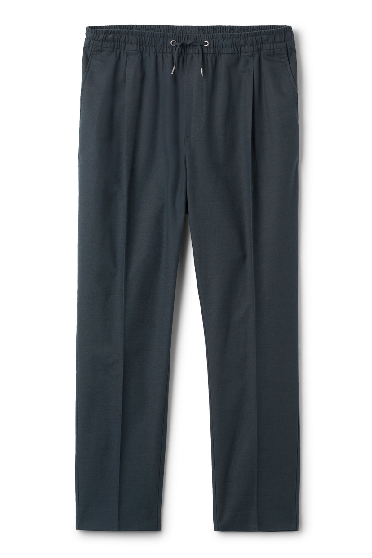 Front image of Weekday thriller woven joggers in blue