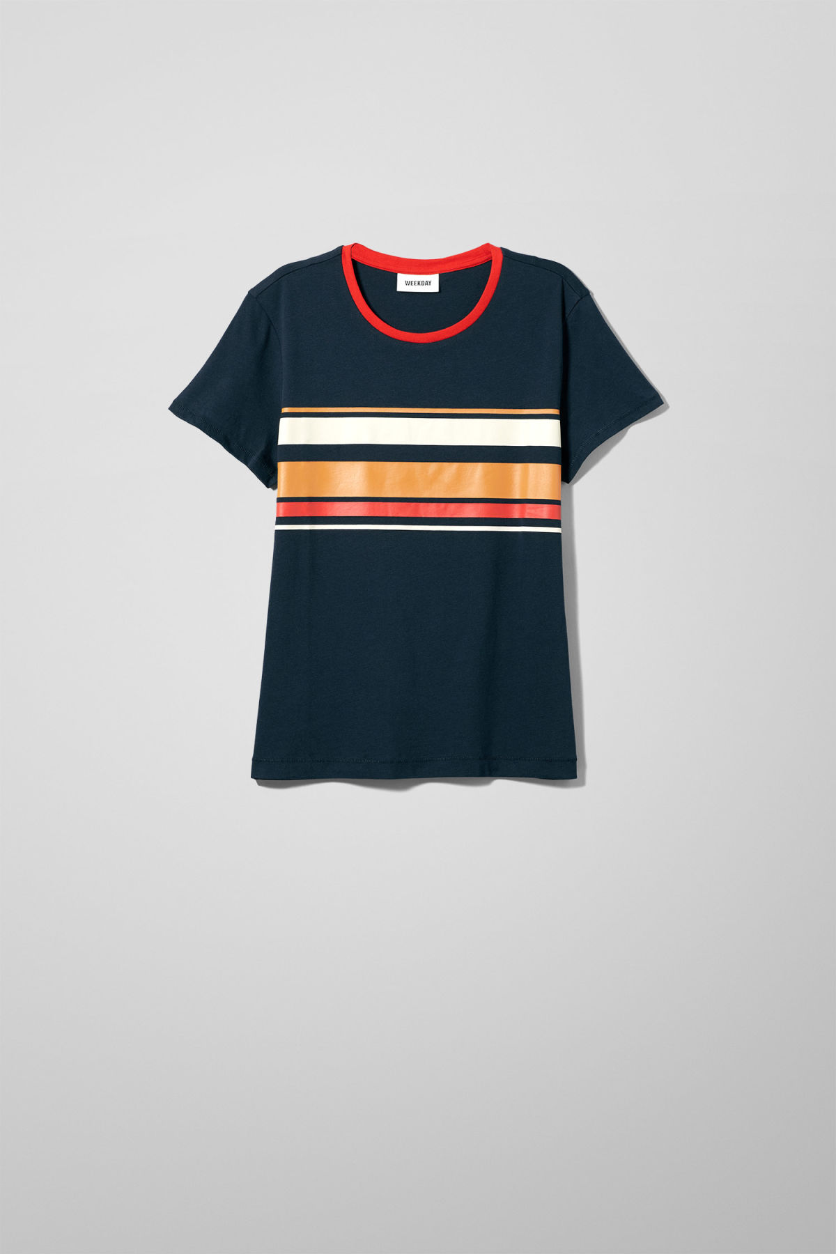 Front image of Weekday tagan tee in blue