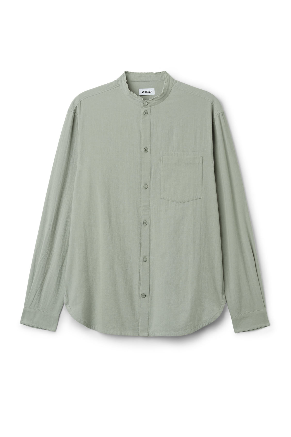 Front image of Weekday rose shirt in green