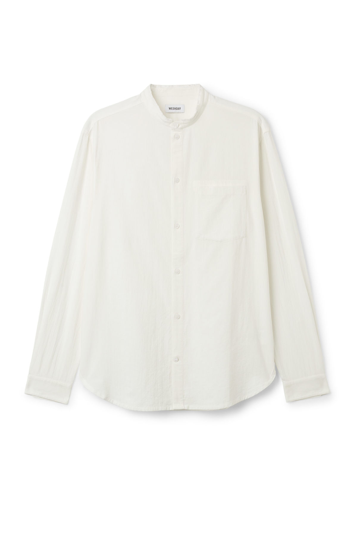 Front image of Weekday rose shirt in white