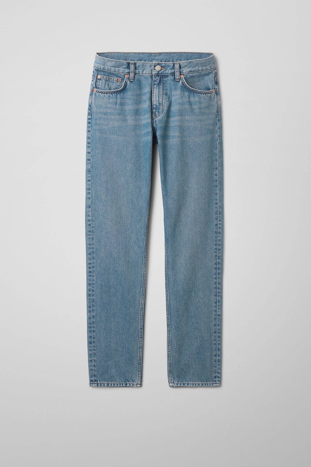 Front image of Weekday friday mint blue jeans in blue