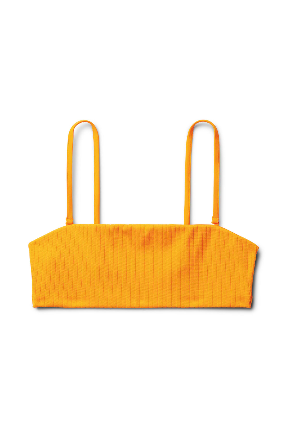 Front image of Weekday latitude swim top in yellow