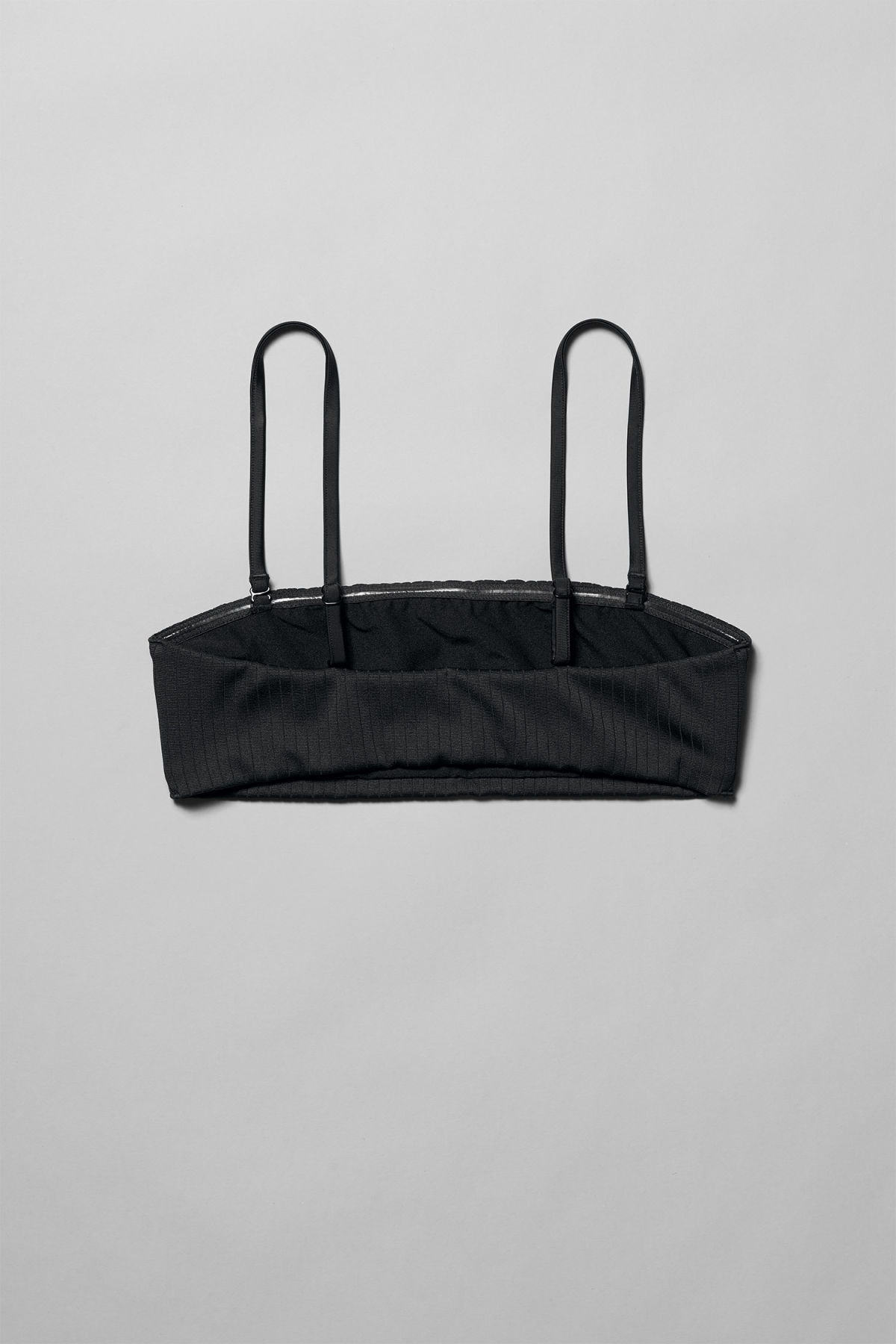 Back image of Weekday latitude swim top in black