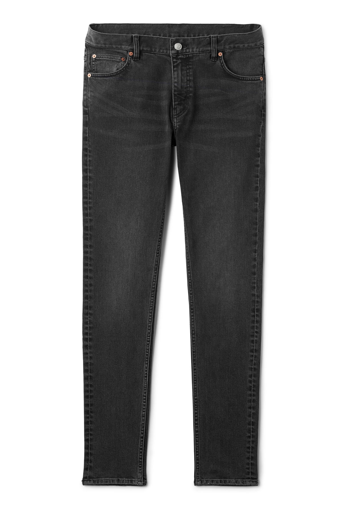 Front image of Weekday form trotter black jeans in grey
