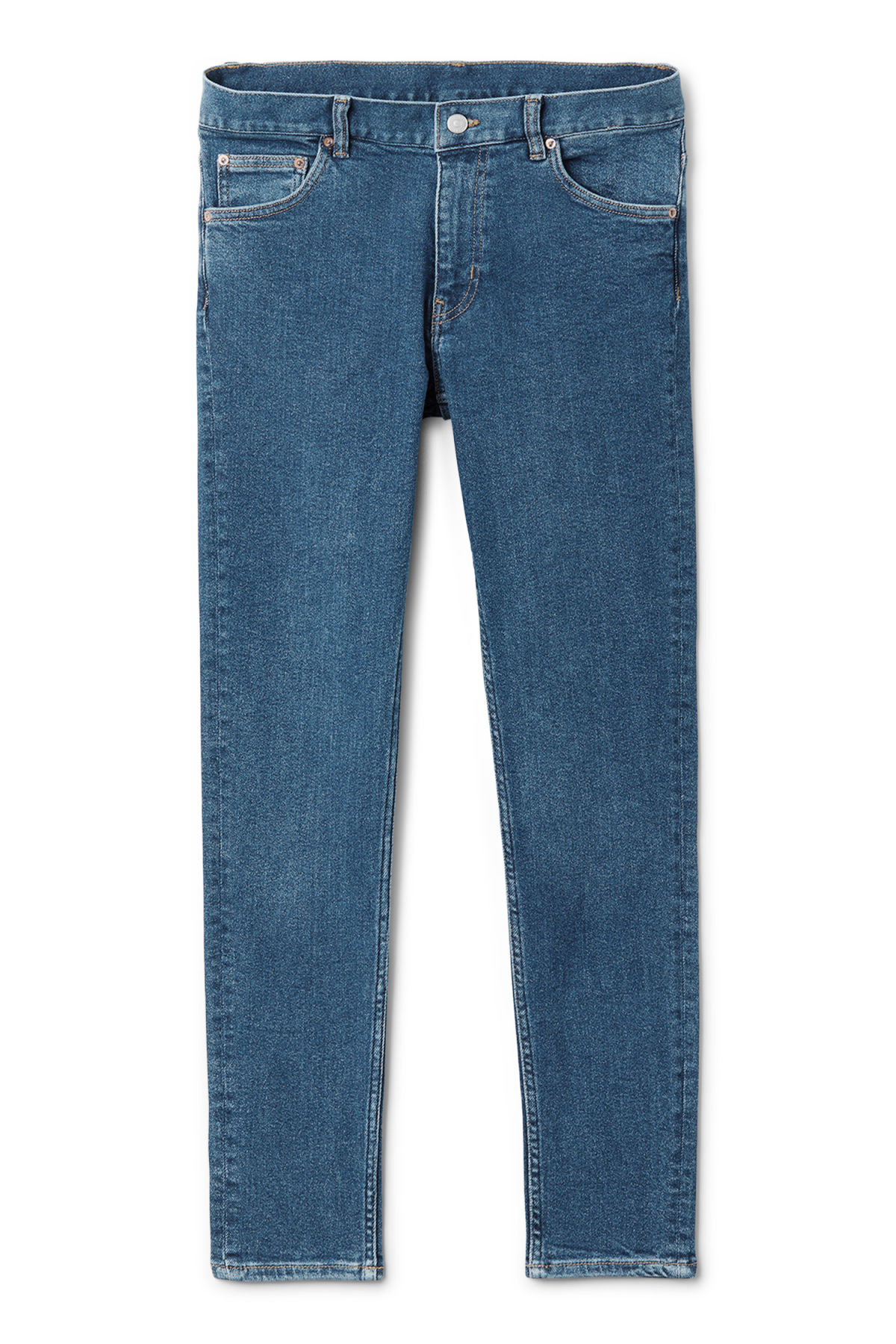 Front image of Weekday form powell blue jeans in blue