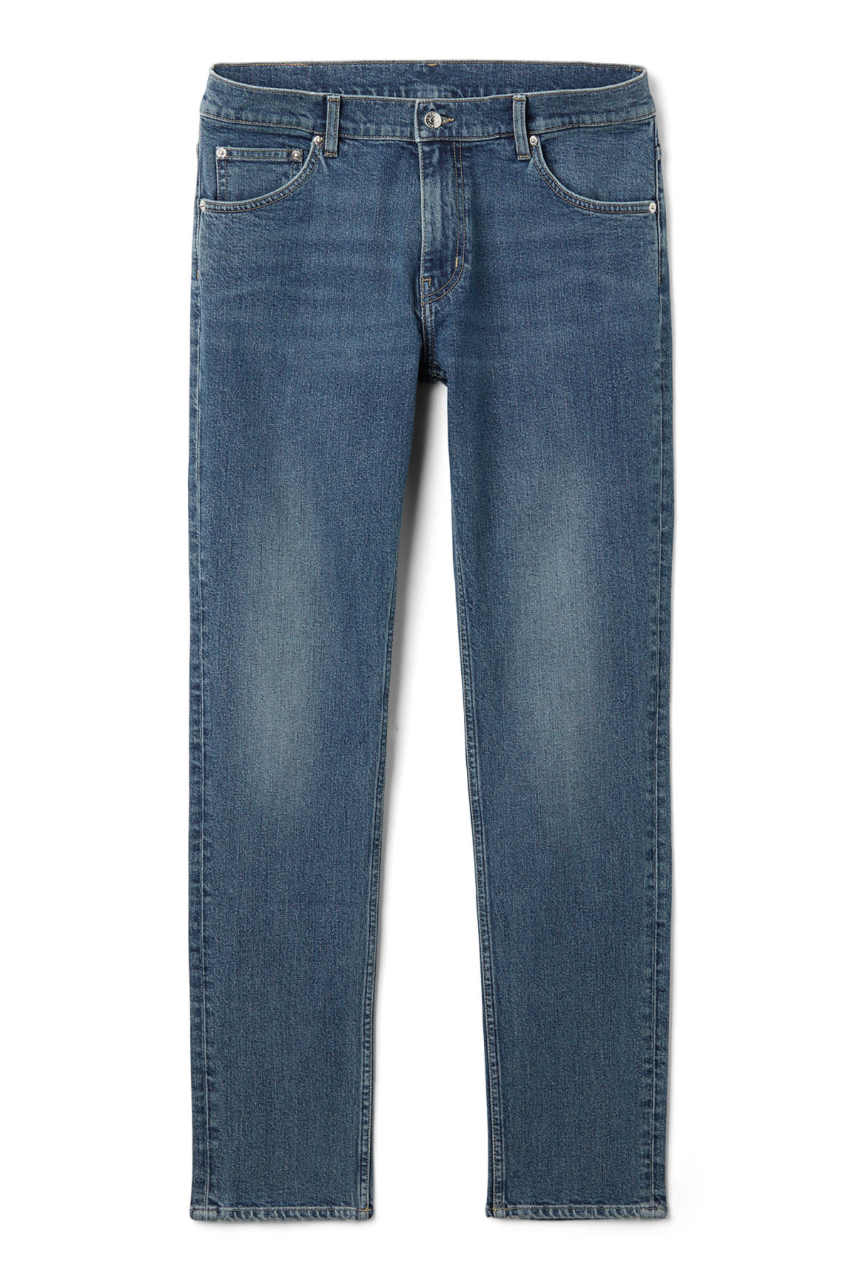Front image of Weekday friday dry blue jeans in blue