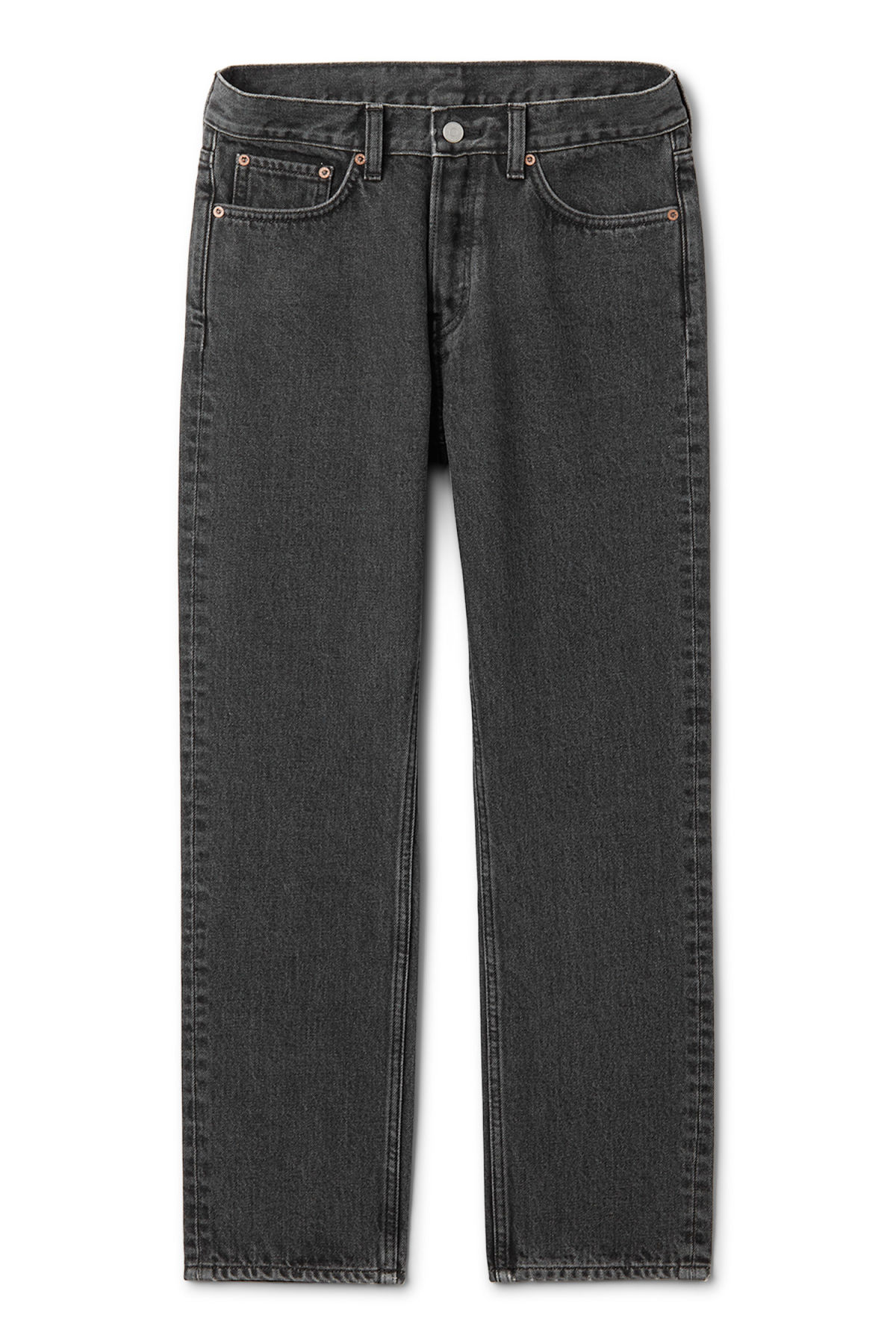 Front image of Weekday vacant cropped stone jeans in grey