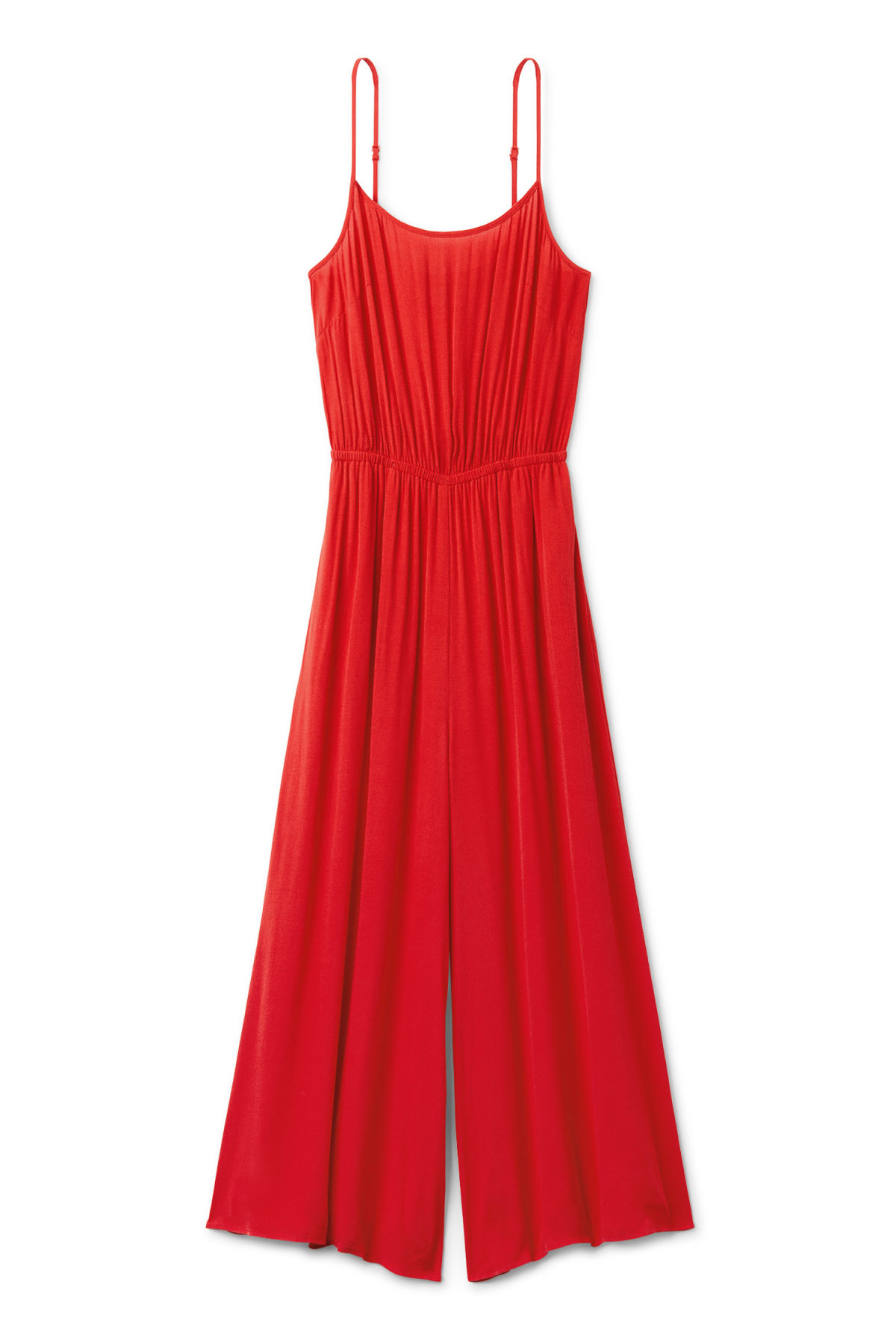Front image of Weekday elora jumpsuit in red