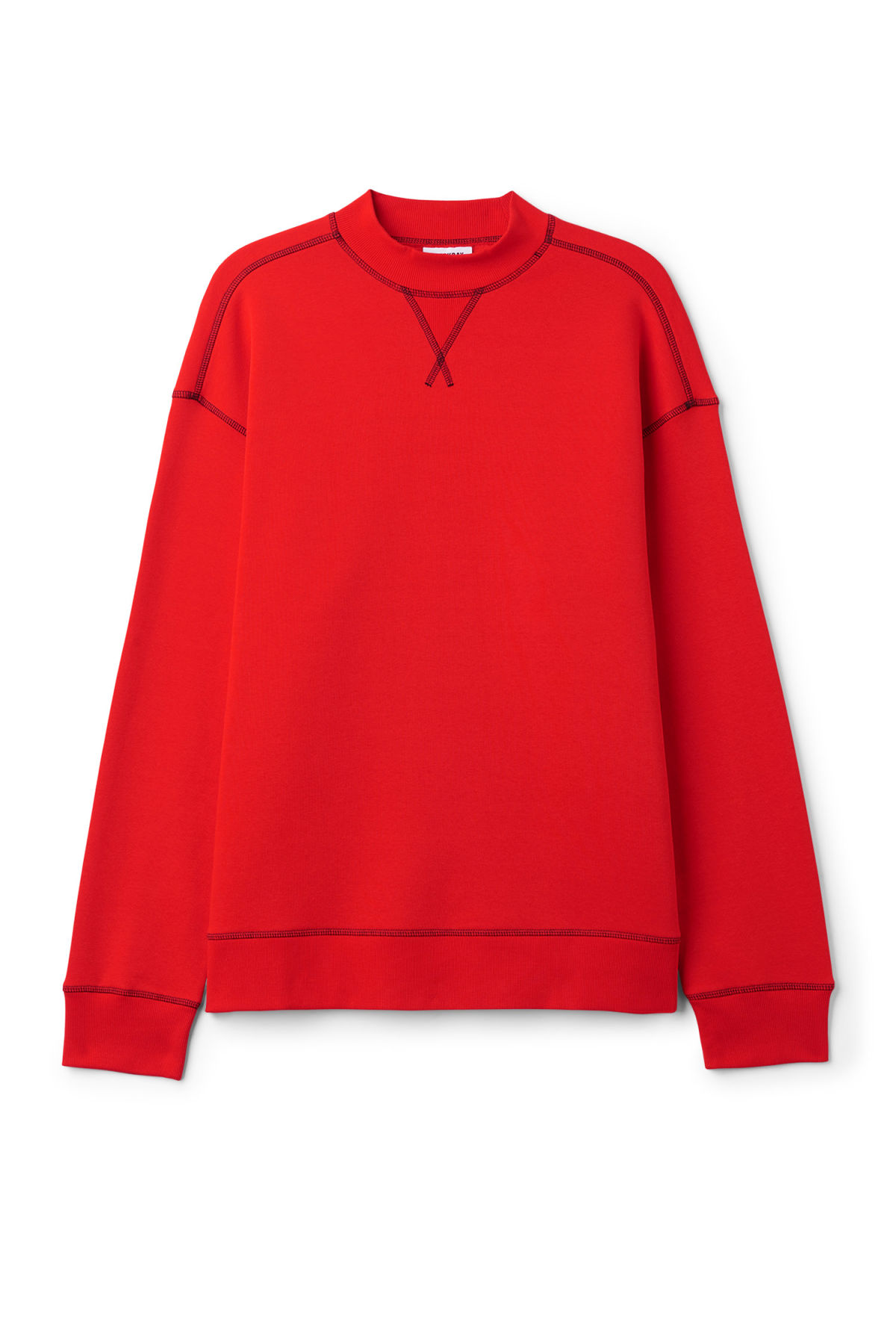 Front image of Weekday syntax sweatshirt in red