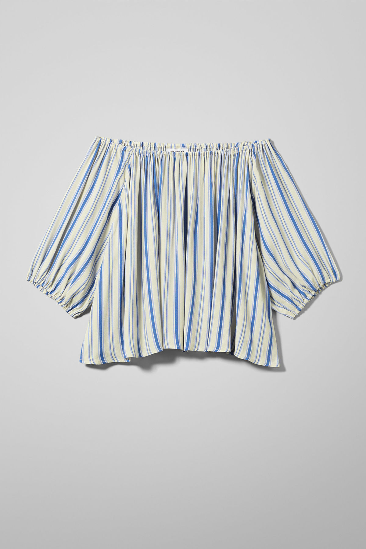 Front image of Weekday chorus blouse in blue